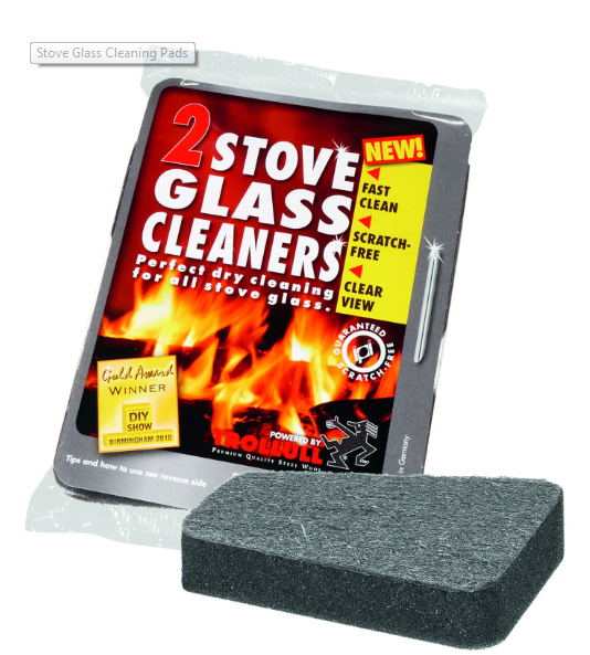 Glass stove cleaner sponge